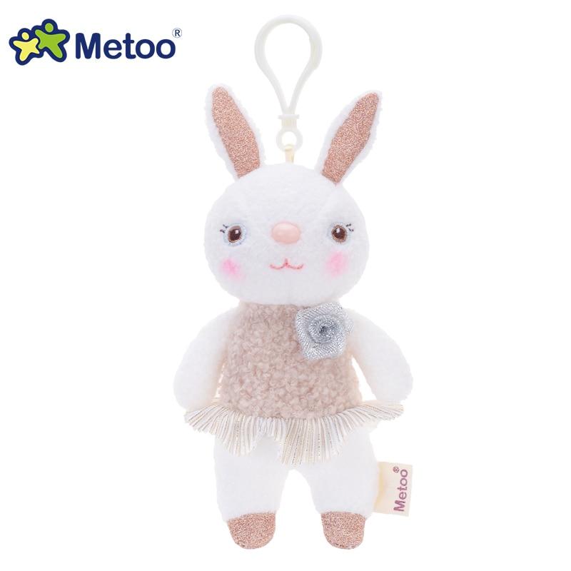 提拉米兔吊饰玫瑰花款-浅咖