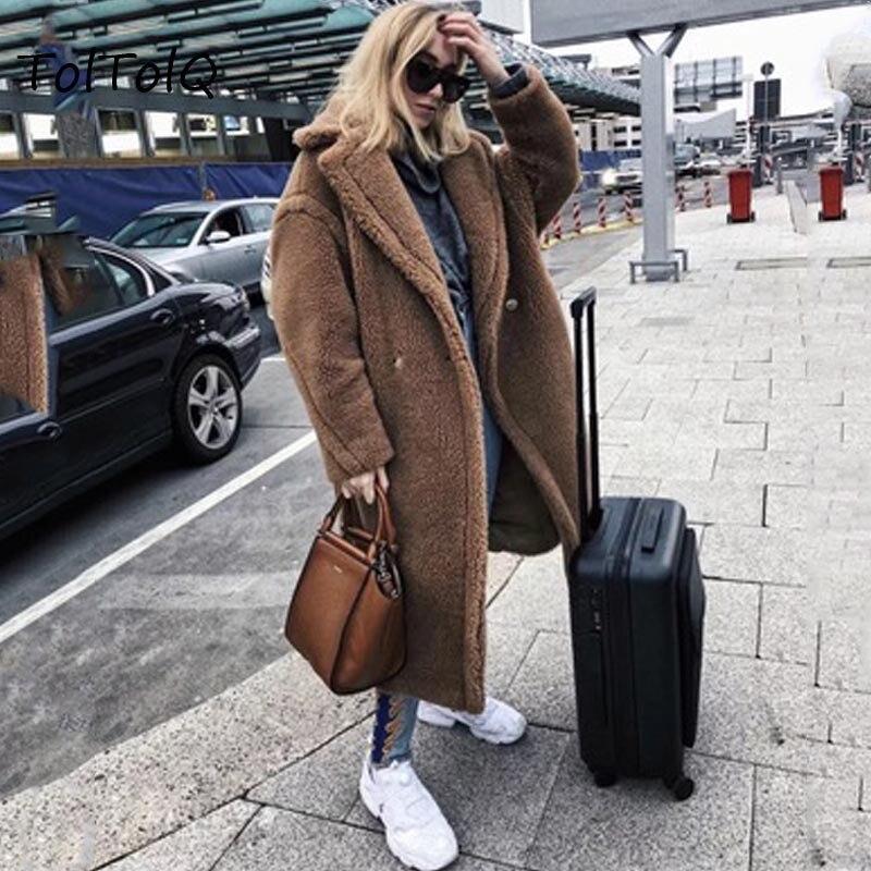 Long Hiver Fausse Agneau Plus Femmes Fourrure En La Élégant Manteau Shaggy Streetwear Automne Laine Femme Pardessus Partie Teddy Peluche Taille zqqrfwExBt