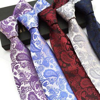 Brand Design Silk męska krawat 8cm z nadrukiem w łezkę krawaty męskie klasyczne krawaty nosić formalne na wesele krawaty Party Gravatas tanie i dobre opinie Moda Poliester Rayon Dla dorosłych Szyi krawat Drukuj Jeden rozmiar T0025