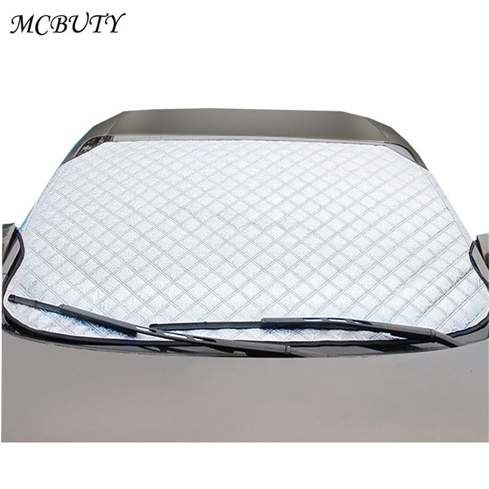 Car Windshield Sunshades Thickening and Cotton Snow Shield Summer Shades Heat Protection Aluminum Foil Snow Cover Anti-UV