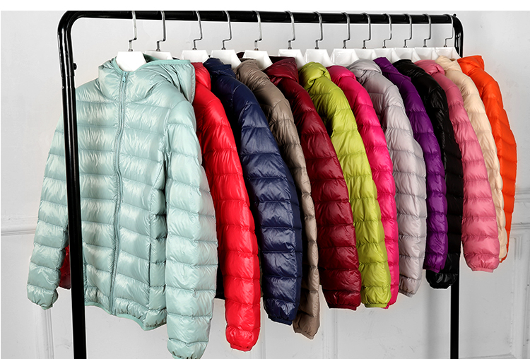 SEDUTMO Winter Plus Size 4XL Womens Down Jackets Short Ultra Light Duck Down Coat Hooded Puffer Jacket Autumn Parkas ED034 19