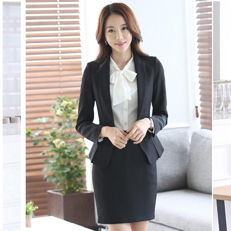 Formal Las Office Skirt Suit 2017 Uniform Designs Women