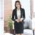 Formal escritório terno de saia 2016 mulheres ternos de escritório elegante saias ternos Blazer com saia conjuntos