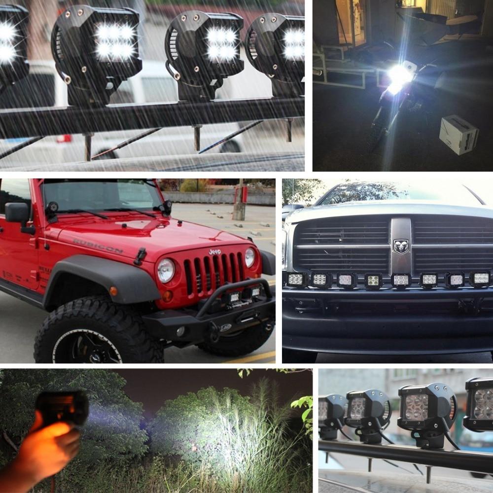 Safego 12 V LED Tractor 18 W Led Kerja Light Bar 18 W Offroad Light - Lampu mobil - Foto 6