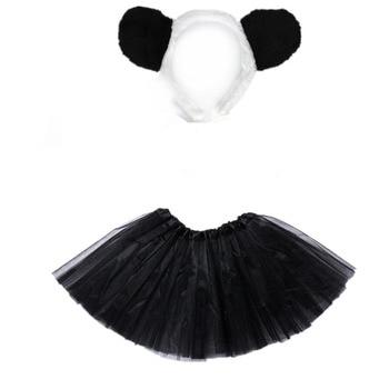 Girl Panda Cosplay  Headband Tutu Skirt Set Kids Children Birthday Party Props Halloween Costume for Gift Christmas - discount item  15% OFF Costumes & Accessories