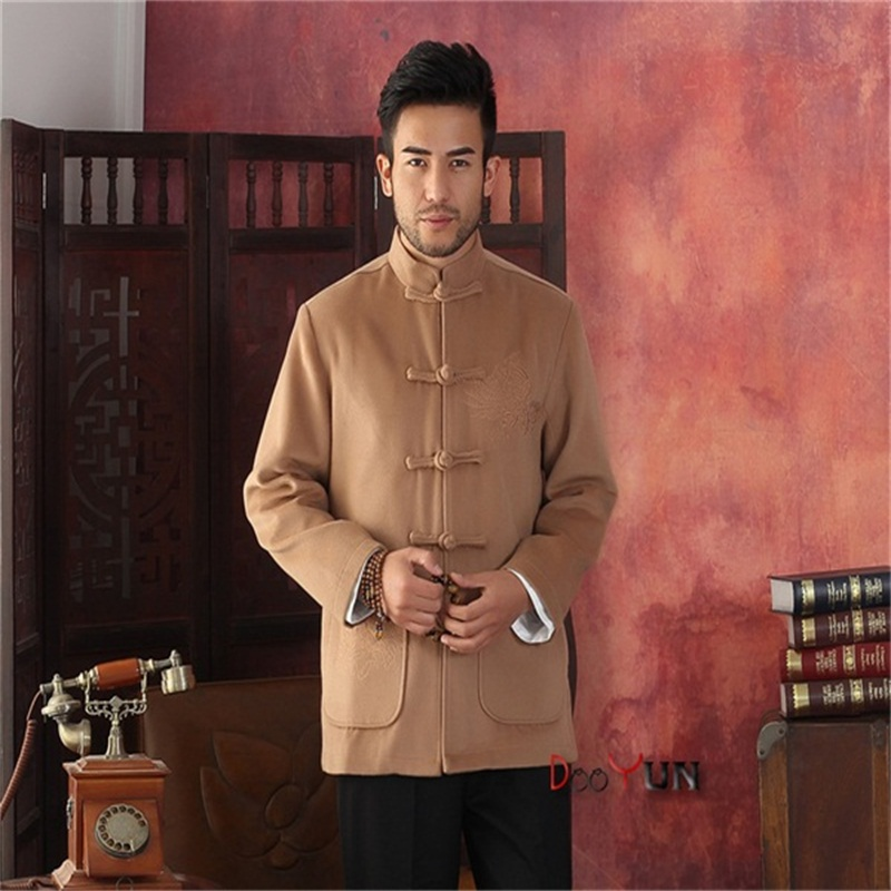 Winter Hottest Gold Men Velour Thick Overcoat Chinese