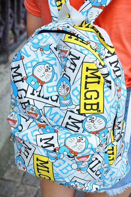Anime Doraemon Anpanman Backpack Canvas Bag School Bags for Boys Girls Casual Schoolbag Knapsack