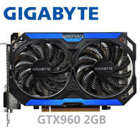 GIGABYTE PC Video Card Original GTX 960 2GB 128Bit GDDR5 Graphics Cards for nVIDIA VGA Cards Geforce GTX960 Hdmi Dvi game Used