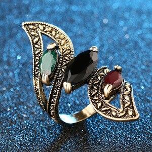 Винтажное большое кольцо красочные кольца из смолы для женщин размер 6-10 турецкие ювелирные изделия перидот кольца Болгария Anillos Mujer Anel Masculino