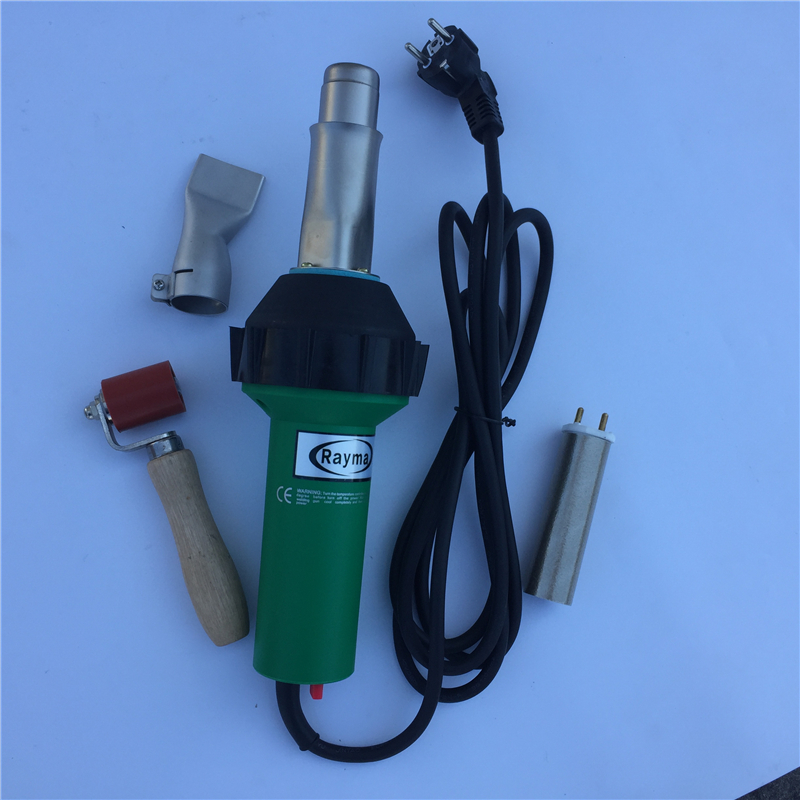 110V / 230V 1600W Hot Air Welding Gun With 40mm Silicone Pressure Roller & Weld Nozzle For Triac S Plastic Welder new 110v 230v 1600w hot air welding gun torch for pp pe pvc viny plastic welder pistol with 5mm nozzle and heating element