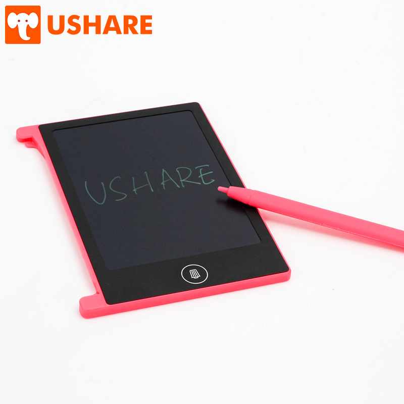 USHARE 1PCS 4.4 Inch Mini Portable LCD Magnetic Memo Writing Board Electronic Graphics Graffiti Drawing Board For Children Gifts