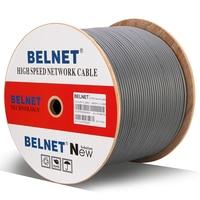 BELNET Cat5E RJ45 Ethernet Network Cable SFTP 24AWG Copper Lan Cable twistd pair Pass Fluke Test 100Mbps 1000Ft 305M