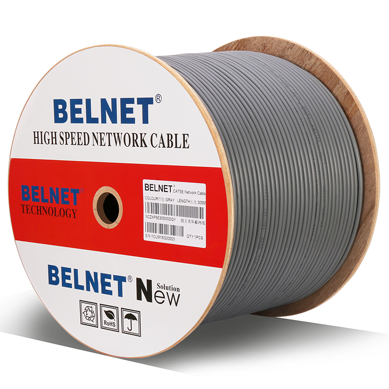 BELNET Cat5E RJ45 Ethernet Network Cable SFTP 24AWG Copper Lan Cable twistd pair Pass Fluke Test 100Mbps 1000Ft 305M кабель регистратора электроэнергии fluke 1730 cable