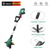 DEKO Original DKGT06 20V Lithium 1500mAh Cordless Grass String Trimmer with Battery Pack and Blade Pendants