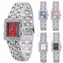 Brand Luxury Woman Bracelet Watches Ladies Silver Crystal Quartz Watch Women Dress Wristwatches