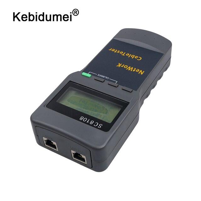 Kebidumei ポータブル SC8108 液晶ワイヤレスネットワークテスターメーター & LAN 電話ケーブルテスター & メーター Lcd ディスプレイ RJ45