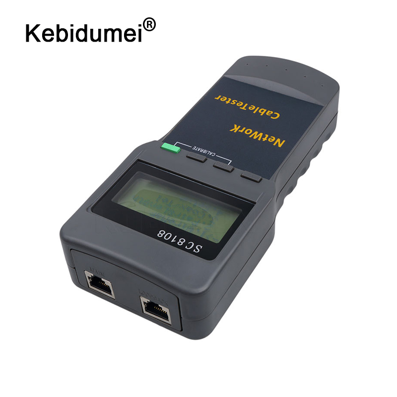 Kebidumei Network-Tester Meter Lcd-Display SC8108 Portable RJ45 Wireless LAN  title=