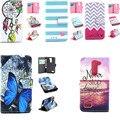 YH Сердце Любви цветок Цветной Печати PU Кожа Флип Case Cover для LG L BELLO Prime D331 D335 D337 Слот Для Карты Бумажник мешок