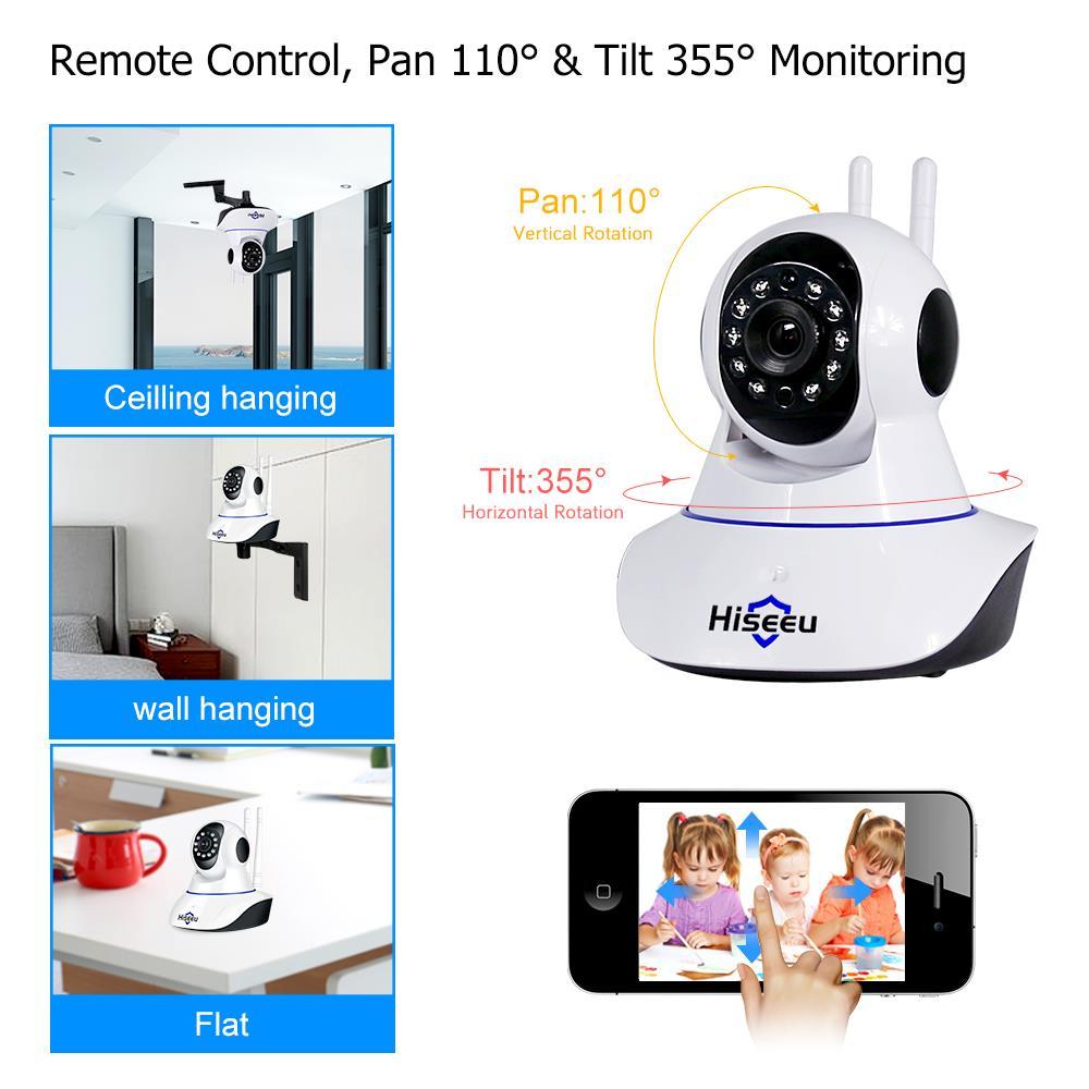 Image 5 - Hiseeu الترا HD 3MP 1080P كاميرا ip لاسلكية واي فاي 1536P أمن الوطن كاميرا مراقبة CCTV الطفل كاميرا الذكية تتبع السيارات-في كاميرات المراقبة من الأمن والحماية على AliExpress