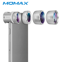 MOMAX Pro 4 In 1 Clip On Mobile Phone Lens For IPhone X 8 7 6