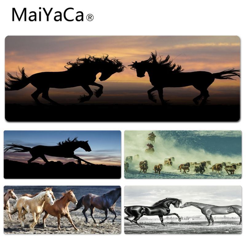 MaiYaCa High Quality Horses Under The Sky Keyboard Gaming MousePads Size for 300*900*2mm and 400*900*2mm Game Mousepad