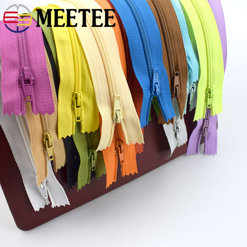 18pcs 3# Meetee 20cm Close-End Nylon Zipper For Sewing Trousers DIY Handbag Bag and Craft 18 Colors Supply AP2331 image