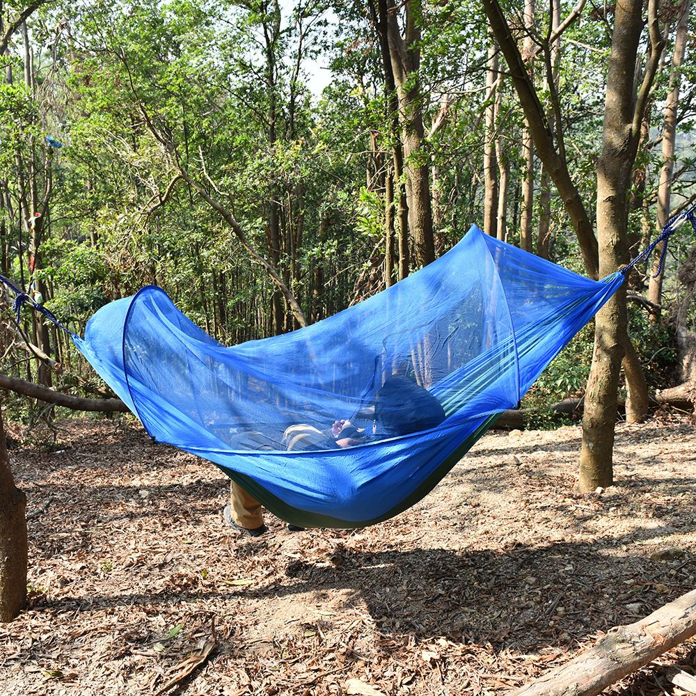 Image 5 - Outdoor Camping Hammock with Mesh Mosquito Bug Net Hanging Swing Sleeping Bed Tree Tent Outdoor Tools-in Outdoor Tools from Sports & Entertainment