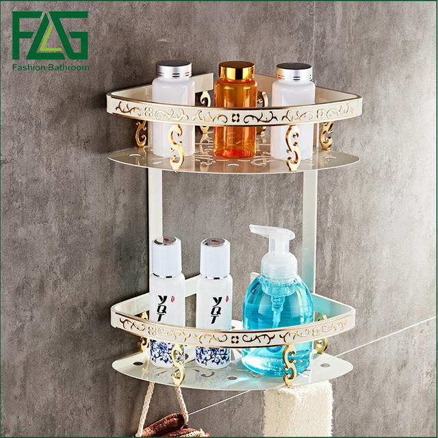 FLG Raum aluminium bad racks badezimmer bad regal Toilette dreieck ...