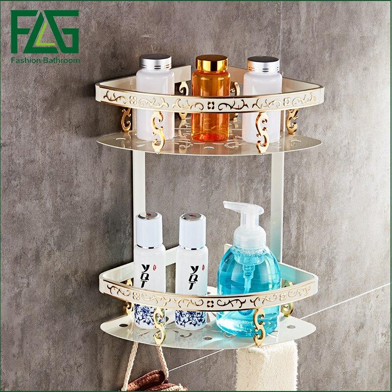 FLG Space aluminum bathroom racks bathroom bathroom shelf storage rack Restroom triangle basket rack Bathroom accessories