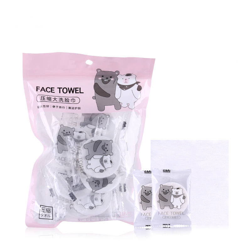 Space Saving Compressed Towel Cotton Hotels Camping Trip Practical Portable Face Towels Travel Essential Compressed Wet Napkin