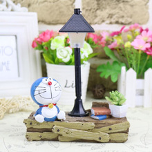 цена на Doraemon Night Light  Resin Cute Model Figurines Fairy Animal Miniatures Living Room Bedroom Garden Home Decoration Crafts Gifts