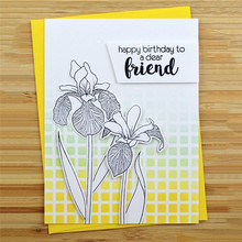 Eastshape Clivia Flowers Dies Metal Cutting Scrapbooking for Card Making Flower Clear Stamps and Craft New Spring Set