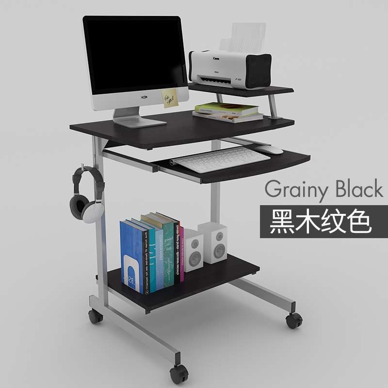 Modern Computer Desk Home Mobile Laptop E Saving Simple Study Table Small Desktop With Lock In Desks From Furniture On Aliexpress