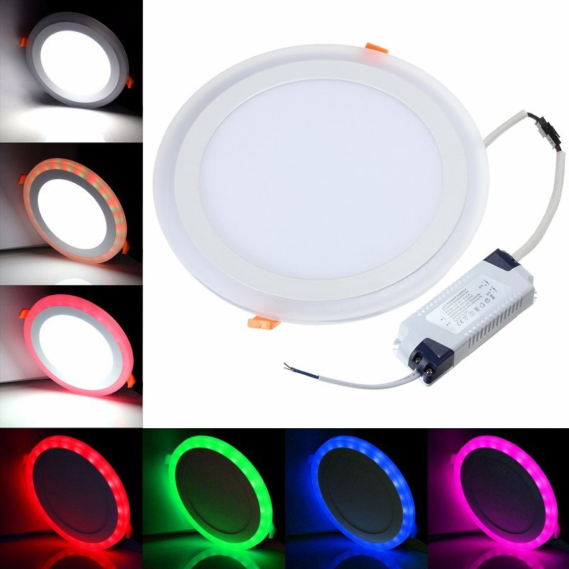 Factory Wholesale White RGB LED Panel Light and Remote Control 6w 9w 18w 24W Recessed LED