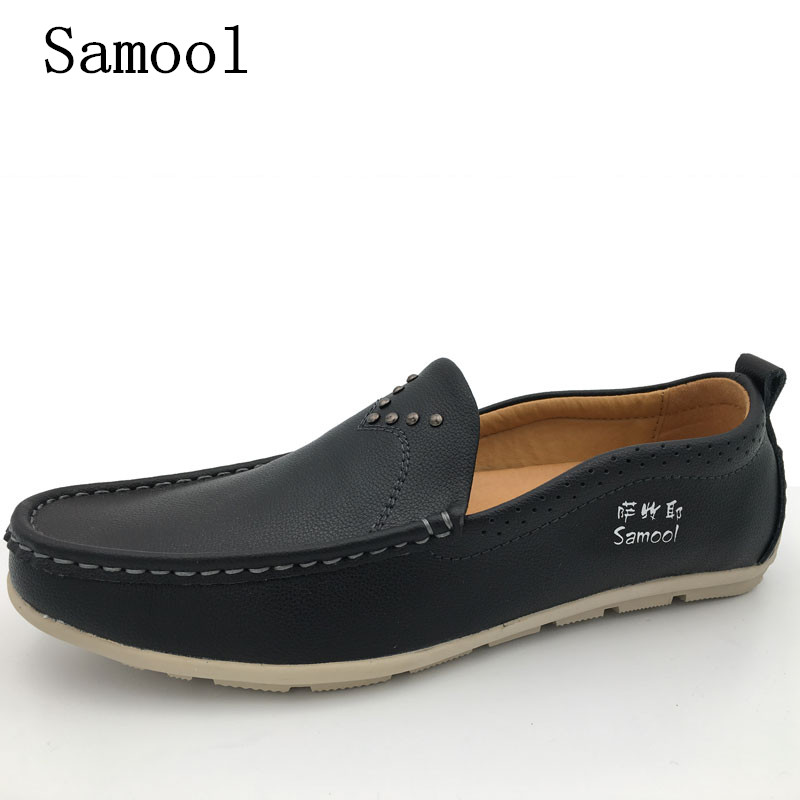 Autumn Winter Fashion Handmade High Quality Genuine Leather Men Flat Breathable Casual Shoes Slip-on Business Lazy Driving Shoes high end breathable men casual shoes loafers genuine leather lace up rubber handmade slip on sewing lazy shoes italian designer