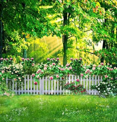 Buy Green Tree Spring Scenic Outdoor 5x7ft Wedding Studio Decor Backgrounds