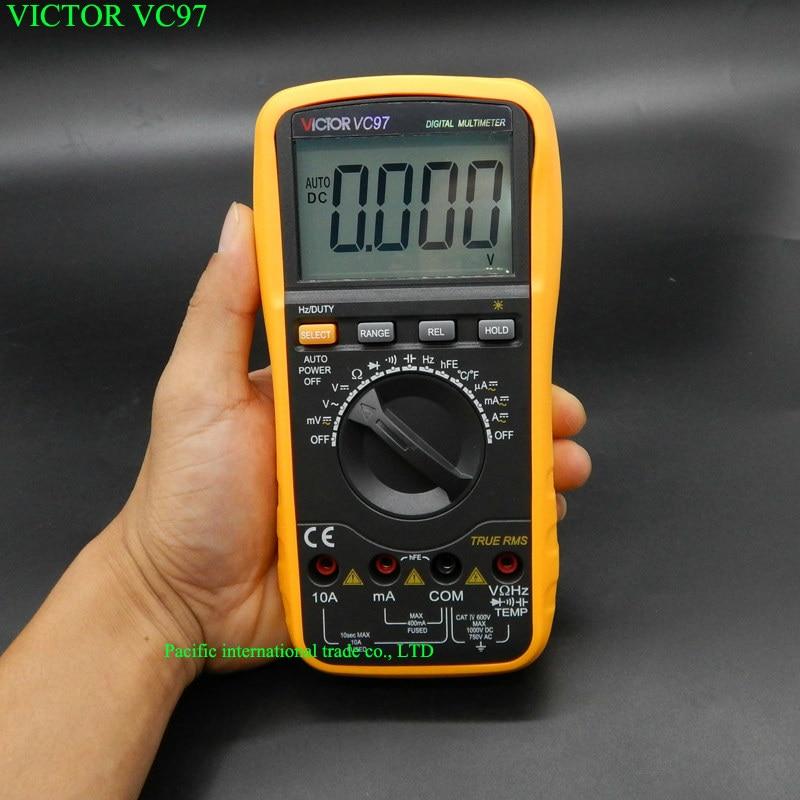 ФОТО VICTOR VC97 Auto Range DMM AC DC Voltmeter Capacitance Resistance Digital Multimeter VS FLUKE15B