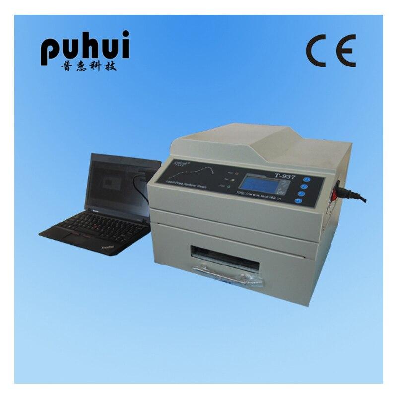 PUHUI Autorisierten T-937 Leadfree Relow Ofen Infrarot IC Heizung Reflow Löten Ofen BGA SMD SMT Rework Sation