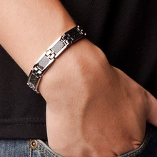 Power Ionics Titanium Carbide Black Magnetic Engery Bracelet Balance Body