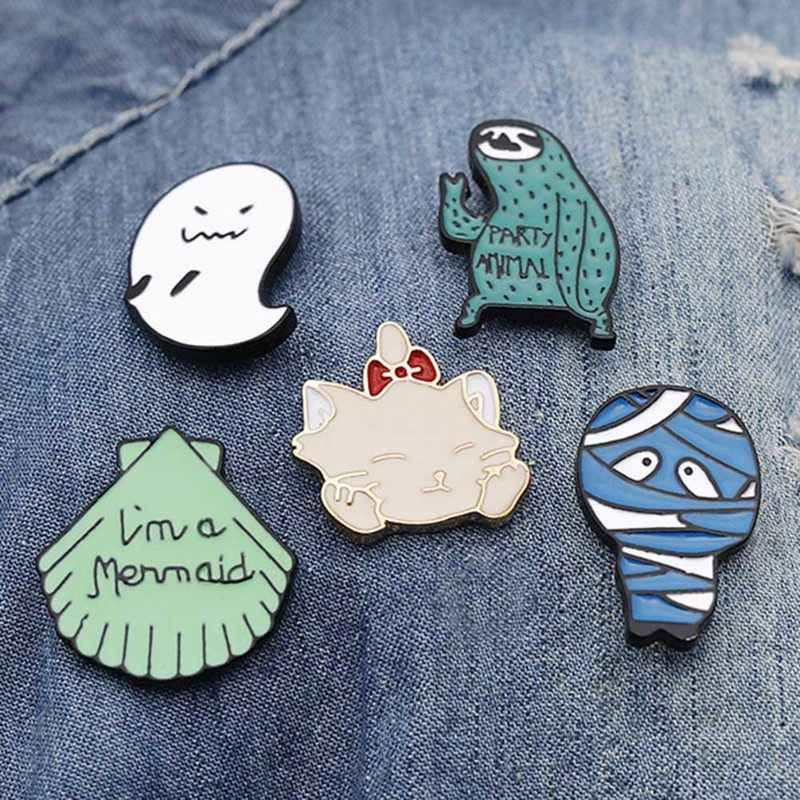 Creative Cute Tree Cat mummy Enamel Pin Clothes badge brooch Lapel pin Cool accesorios mujer