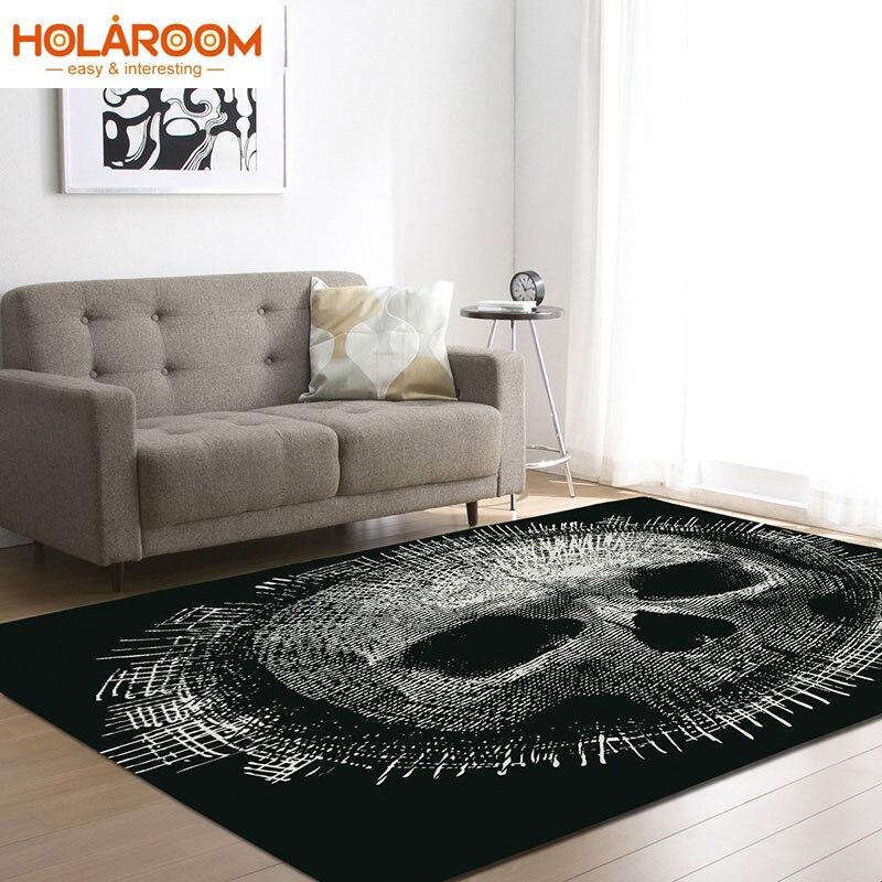 Tapis imprimé de mode de tapis de crâne pour le salon/chambre à coucher/tapis de porte de pièce d'étude personnalité 3D tapis de jeu de crâne grande taille