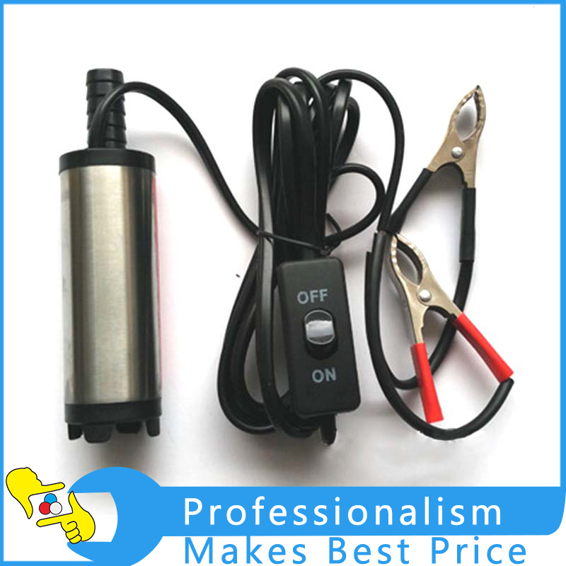 Oil Pump DC 12V Water Oil Fuel Transfer Pump Car Camping Submersible Transfer Pump for Diesel Fuel Oil Pumps Belt Filter Sliver oil leakage suction pipe siphon tube hose manual fuel transfer pump sucker fuel tank180cm auto vehicle necessary ad1002