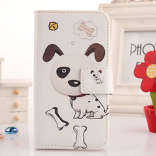 LINGWUZHE Book-Style Flip Cell Phone Case PU Leather Cover For Santin Promotion Candy U7 5''