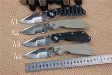Strider knives Quality 56HRC 5Cr13Wov Blade G10 + stainless steel Handle Folding knife Survival Camping Hunting EDC Utility Tool