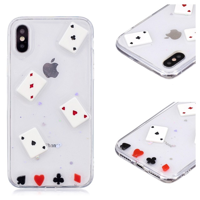 more photos 5f1bd b1528 US $3.33 |For IPhone 6 6s 7 8 Plus 3D Cartoon Original Poker Silicone Loves  Gift Fornitet Popsocket for Mobile Phone Vineyard Vines Case-in Fitted ...