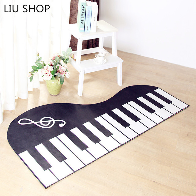 LIU Piano Mat Water Absorption Bed Bedroom Living Room Coffee Table Special  Shaped Fashion Creative Home