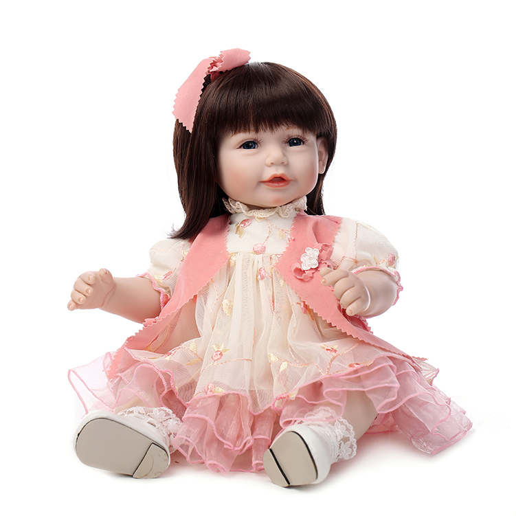 20inch soft Silicone Reborn Baby Dolls Toy 52cm Babies sweet face princess toddlers doll lifelike Present Girls Brinquedos toys20inch soft Silicone Reborn Baby Dolls Toy 52cm Babies sweet face princess toddlers doll lifelike Present Girls Brinquedos toys
