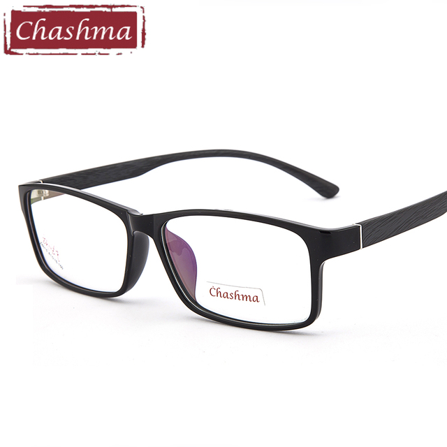 Chashma Merek Super Besar Ukuran Pria Optik Kacamata Bingkai Kacamata Lebar  Wajah Laki-laki untuk 46571b4835