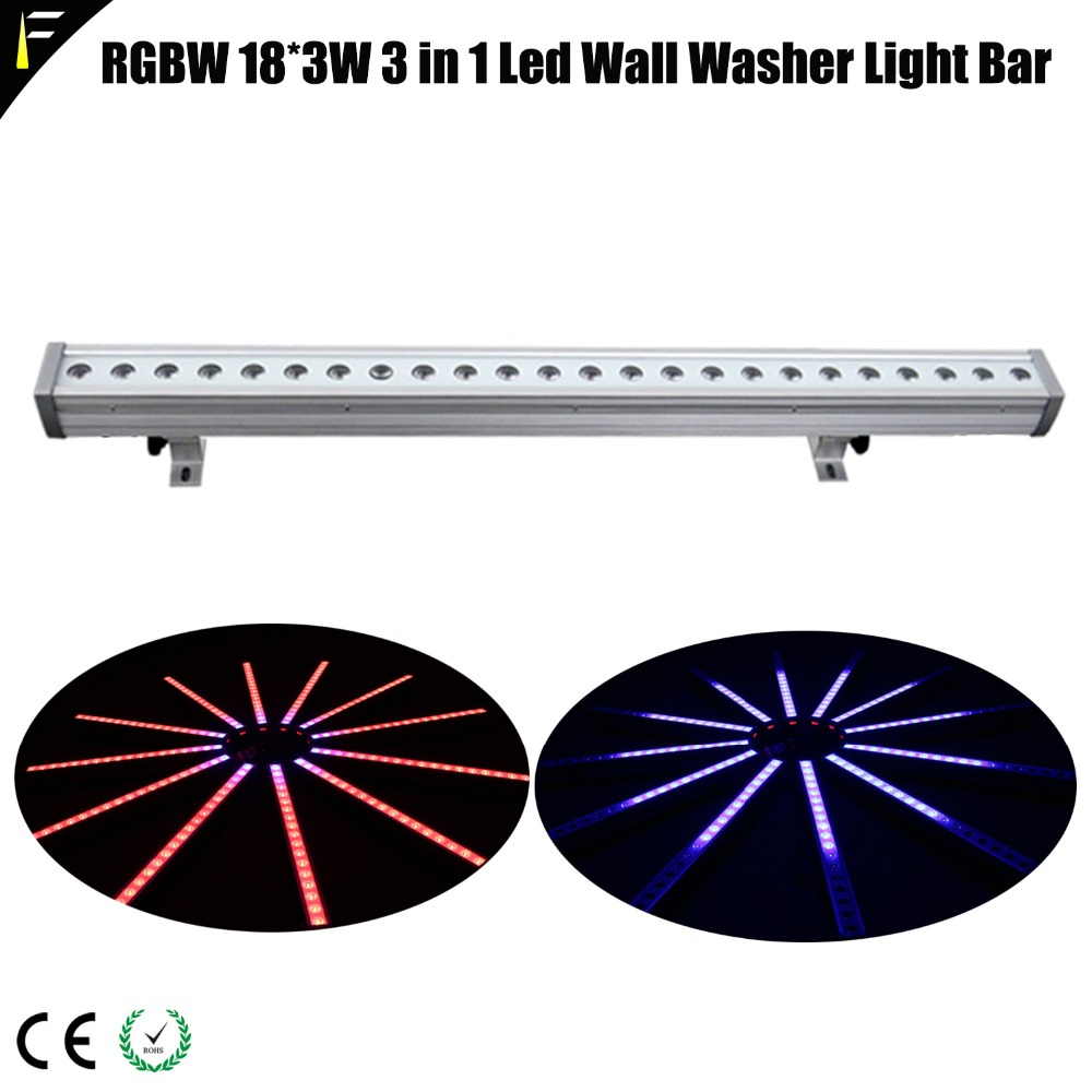 цена Pro Stage Show Venue Strip Blinder Light Bar For Wash Wall Light With Color Mixing RGBW 18*3W 3 in 1 Led Wall Washer Light Bar