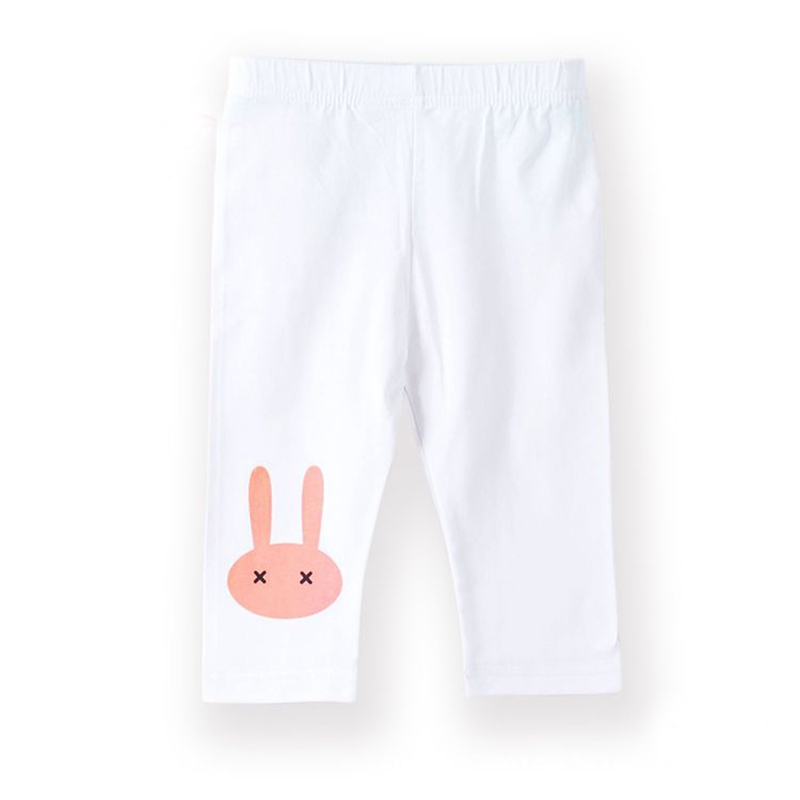 3-10years Rabbit Footless Girls Knee Length Pants Kid Five Pants Trousers Cropped Children Modal Cotton Leggings Summer Bottoms 4